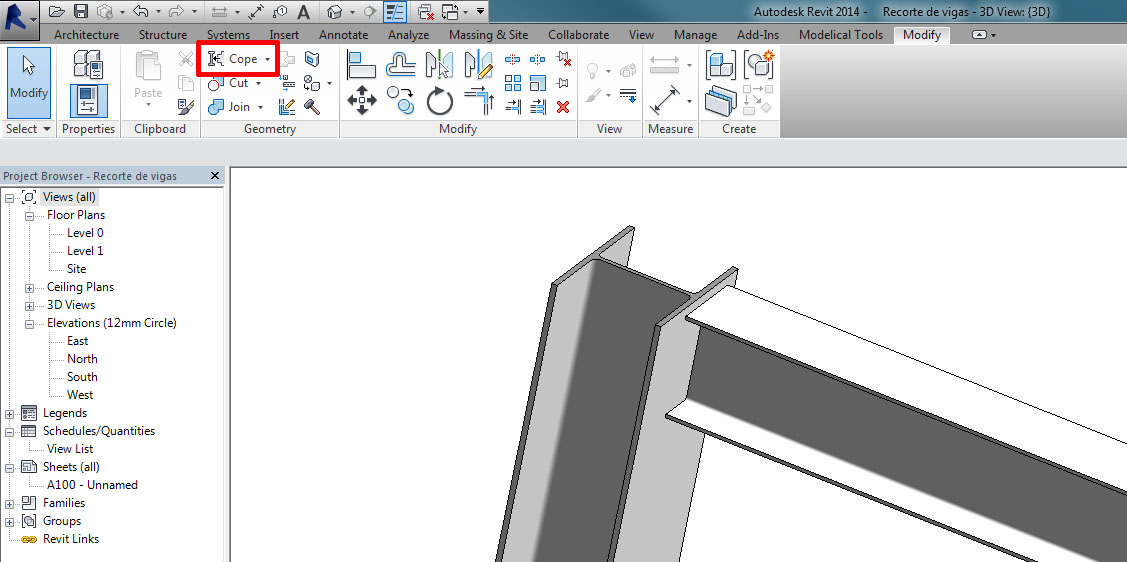 Cut beams and columns in Revit - Modelical