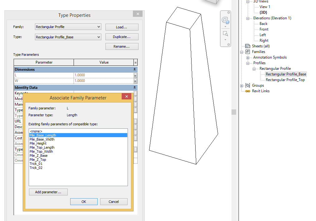 Structures in Revit (VI) - Tutorial: pyramidal pile family